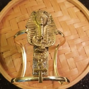 King tut Ancient Egyptian charms cuff bracelet
